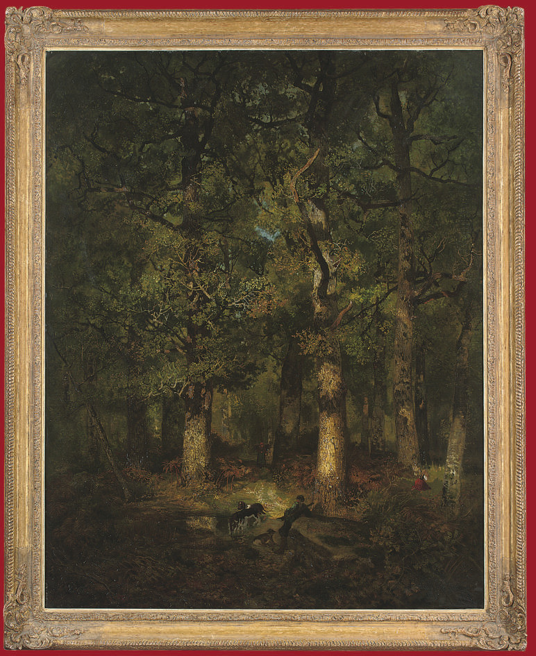 A huntsman in a forest glade