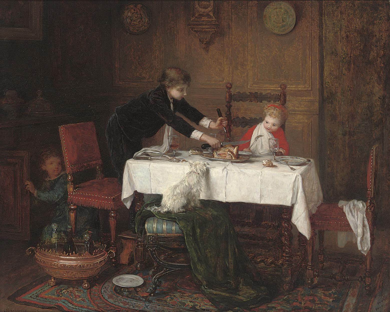 A mischievous mealtime