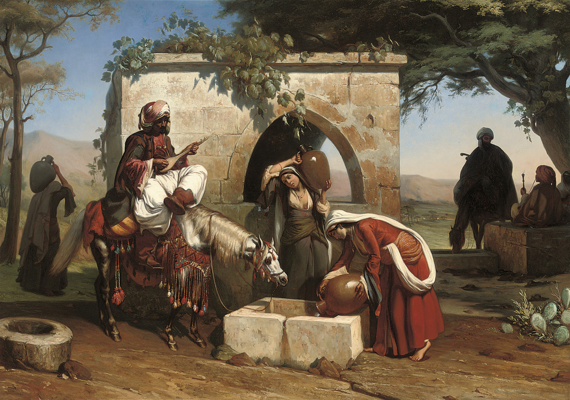 A serenade at the well