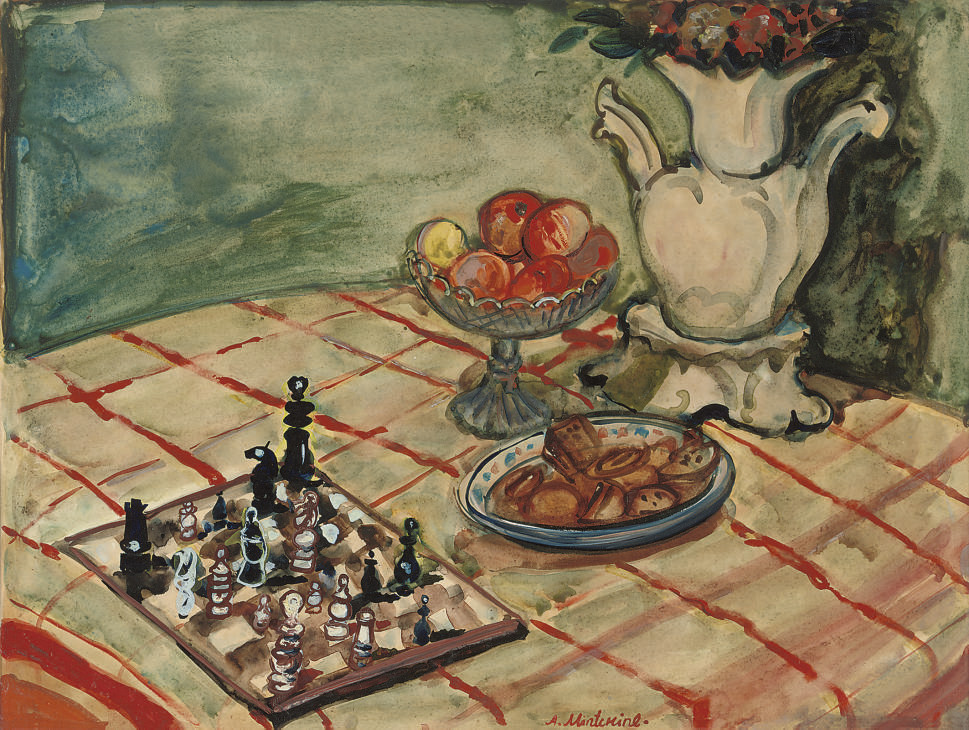 Still life with chess-board