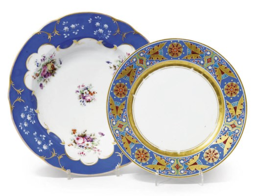 A 'GOTHIC' SERVICE PLATE AND A