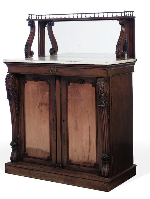 A WILLIAM IV MAHOGANY CHIFFONI