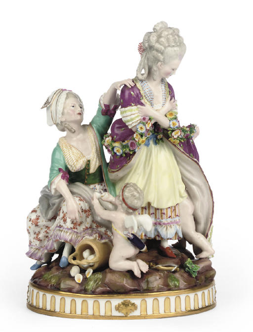 A MEISSEN GROUP OF 'THE BROKEN