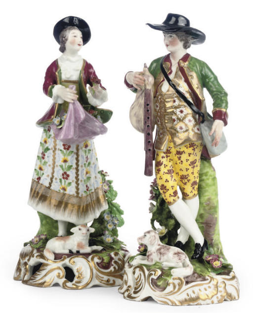 A PAIR OF SAMSON FIGURES OF A