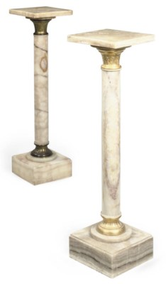 A NEAR PAIR OF FRENCH GILT MET