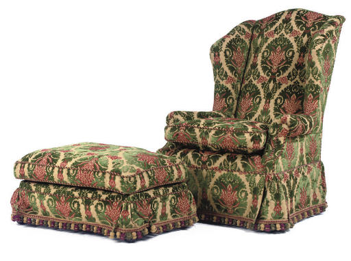 A GEORGE SMITH WING ARMCHAIR A