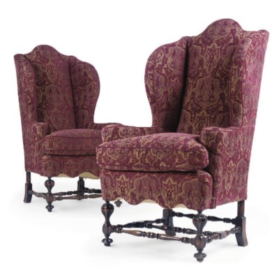A PAIR OF STAINED BEECH HIGHBA