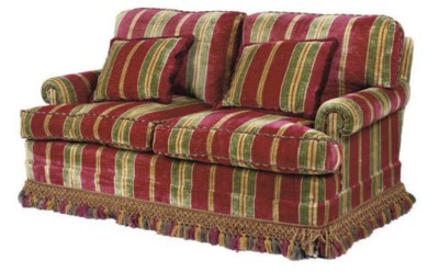 A GEORGE SMITH TWO-SEAT SOFA