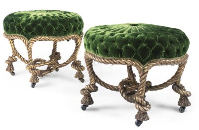 A PAIR OF GILTWOOD ROPETWIST S