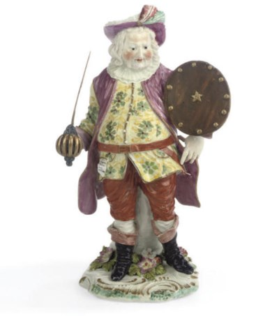 A DERBY FIGURE OF FALSTAFF