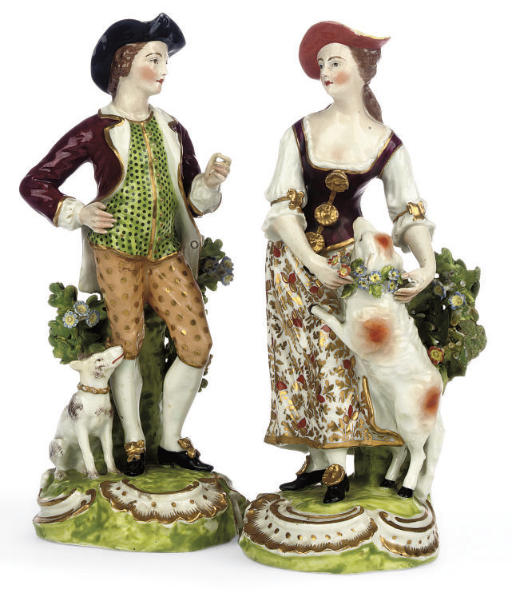 A PAIR OF SAMSON FIGURES OF SH