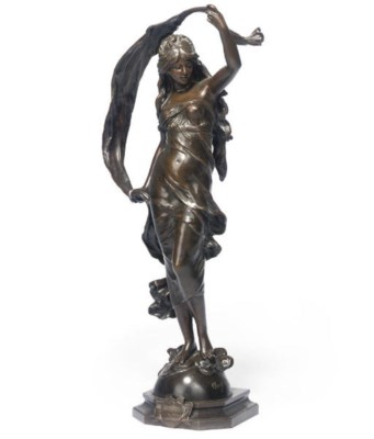 A FRENCH BRONZE OF AURORA