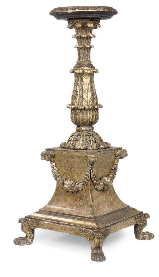 A GEORGE IV GILTWOOD AND PAINT