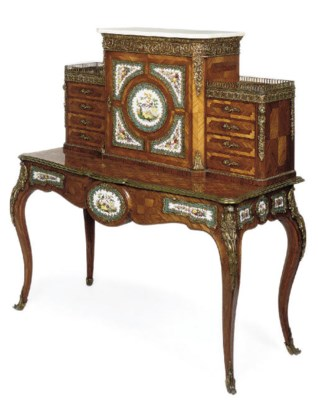 A MID VICTORIAN GILT-METAL AND