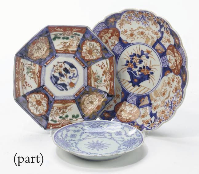 Four Japanese porcelain dishes