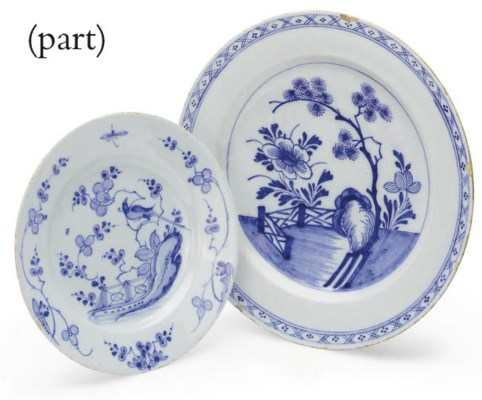 FOUR DELFTWARE BLUE AND WHITE