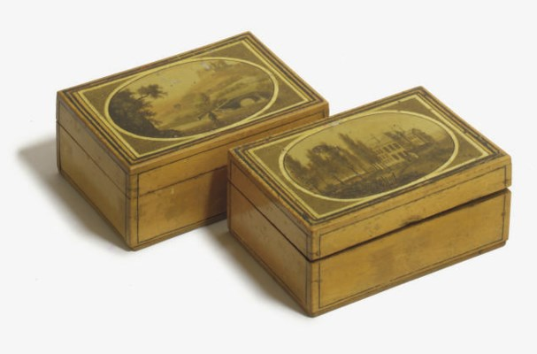 A PAIR OF RUSSIAN SYCAMORE BOX