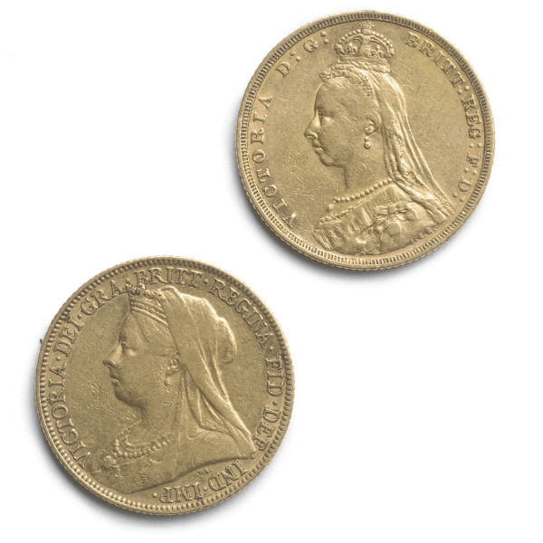TWO VICTORIAN SOVEREIGNS