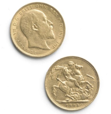 TWO EDWARD VII SOVEREIGNS