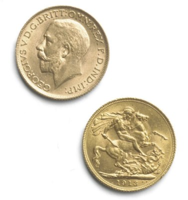 TWO GEORGE V SOVEREIGNS
