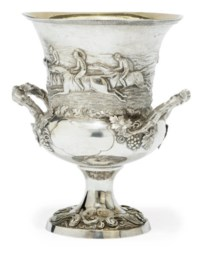 A WILLIAM IV SILVER TWO-HANDLED RACING TROPHY CUP