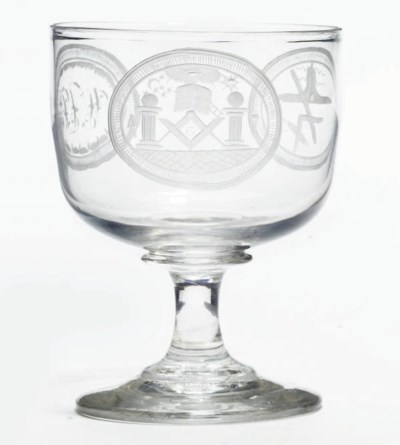 AN ENGLISH MASONIC GOBLET