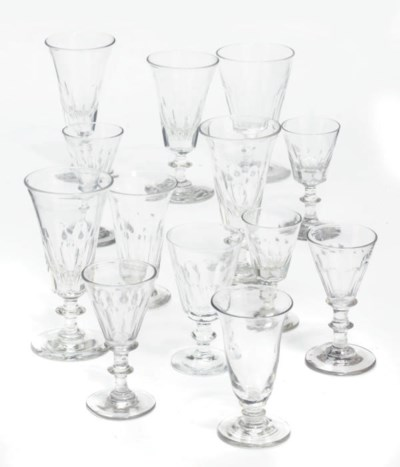 A COLLECTION OF CUT-GLASS DRIN