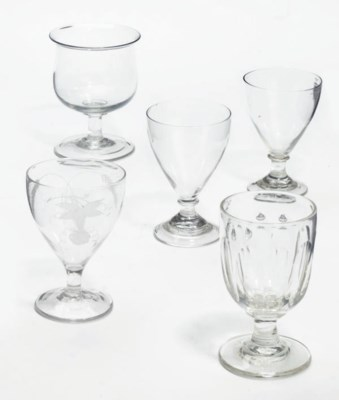 THREE GLASS RUMMERS AND TWO GO