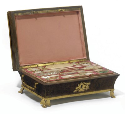 A FRENCH GILT-METAL MOUNTED TH