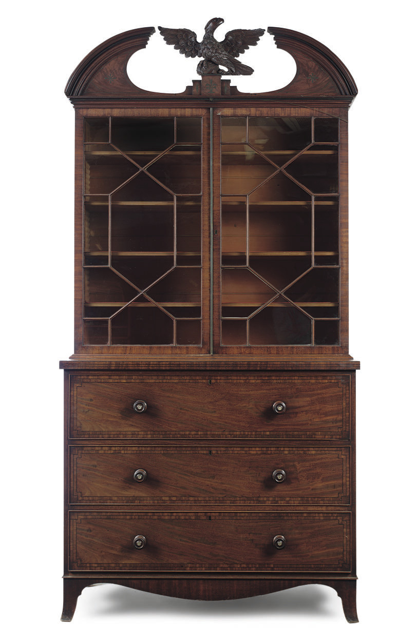 A LATE REGENCY MAHOGANY AND LI