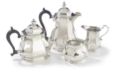 A FOUR PIECE SILVER TEA SERVIC