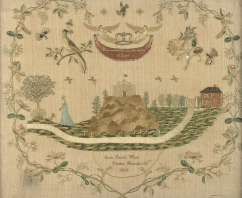 A REGENCY EMBROIDERED PICTURE