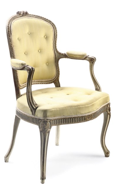 A GEORGE III PARCEL-GILT AND W