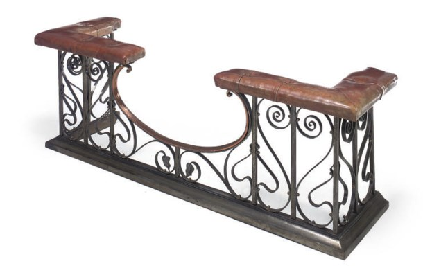 A STEEL WROUGHT-IRON AND COPPE