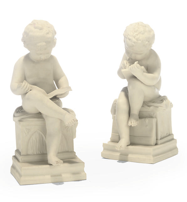 TWO ENGLISH PARIAN FIGURES OF