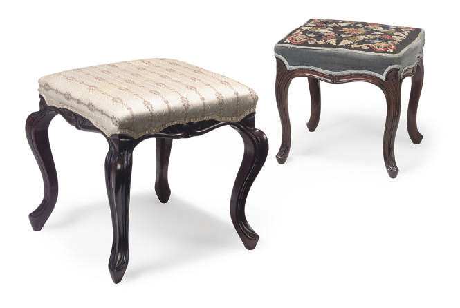 A VICTORIAN ROSEWOOD STOOL