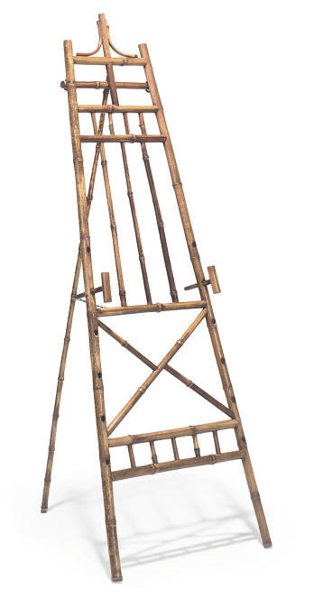 A VICTORIAN BAMBOO EASEL