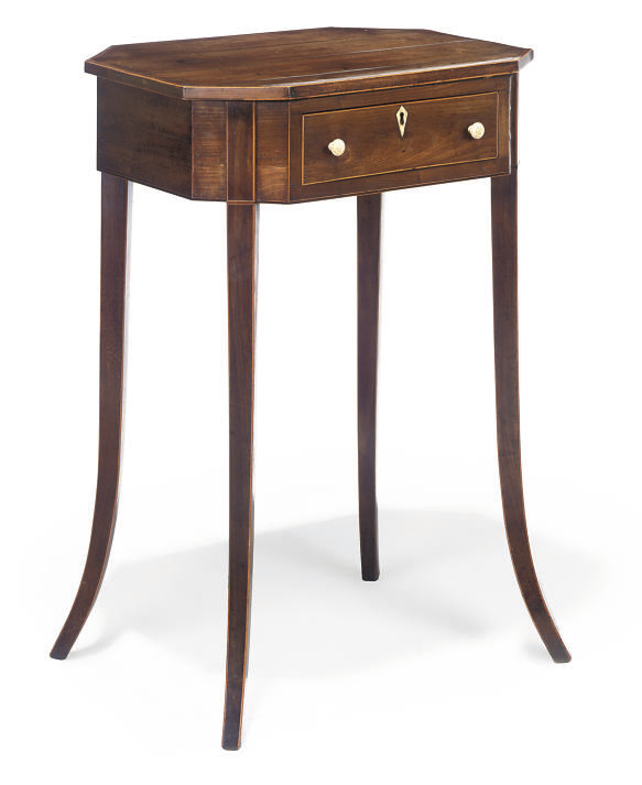 A REGENCY FRUITWOOD CROSSBANDE