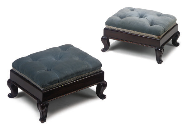 A PAIR OF VICTORIAN ROSEWOOD F