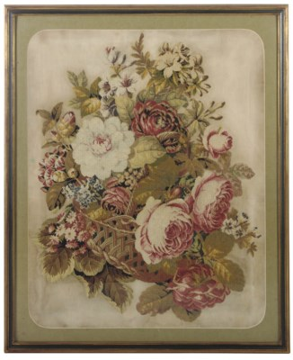 A LARGE VICTORIAN WOOLWORK PIC