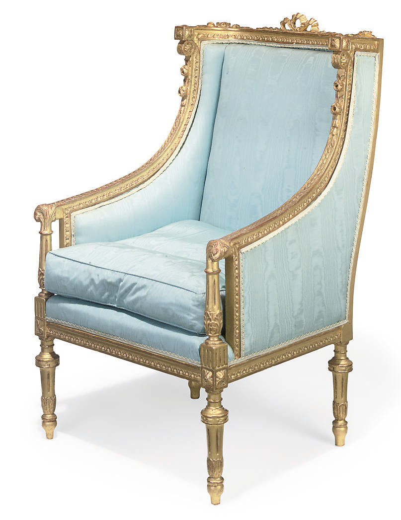 A FRENCH GILTWOOD BERGERE