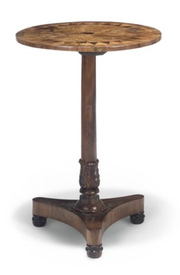A WILLIAM IV ROSEWOOD AND MAHO