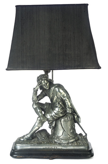 A FRENCH SPELTER FIGURE OF HAM