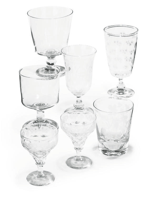 A COLLECTION OF ENGLISH GLASSW