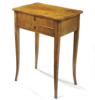A GERMAN ASH SIDE TABLE