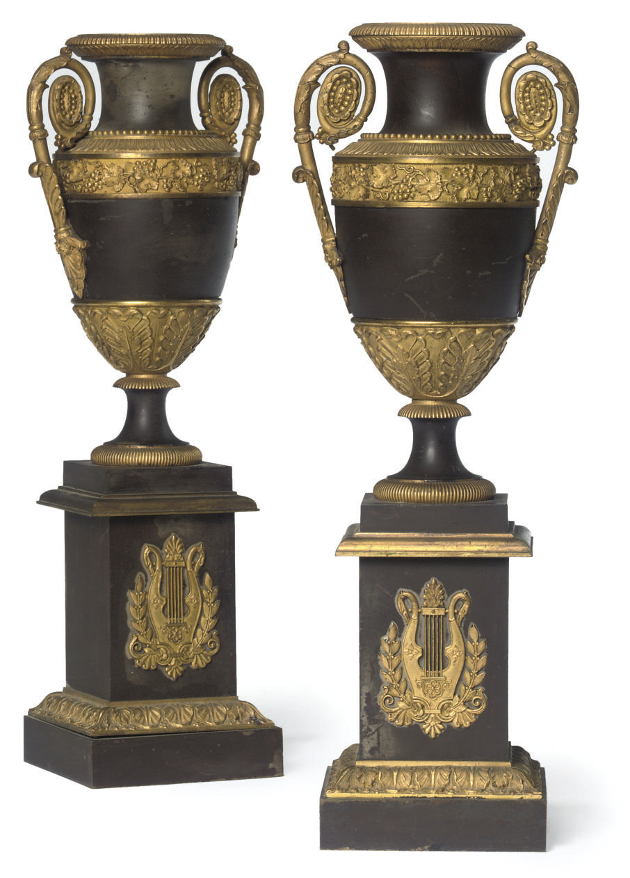 A PAIR OF CHARLES X GILT AND P