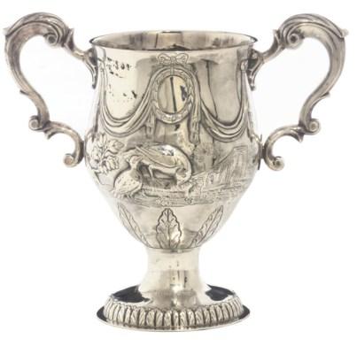 A GEORGE III IRISH SILVER TWO-