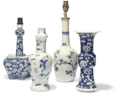 FOUR CHINESE BLUE AND WHITE VA