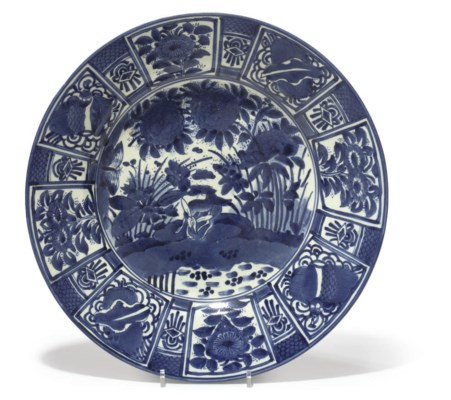 A JAPANESE BLUE AND WHITE ARIT
