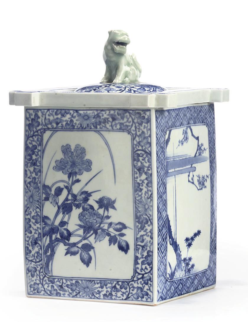 A JAPANESE HIRADO BLUE AND WHI
